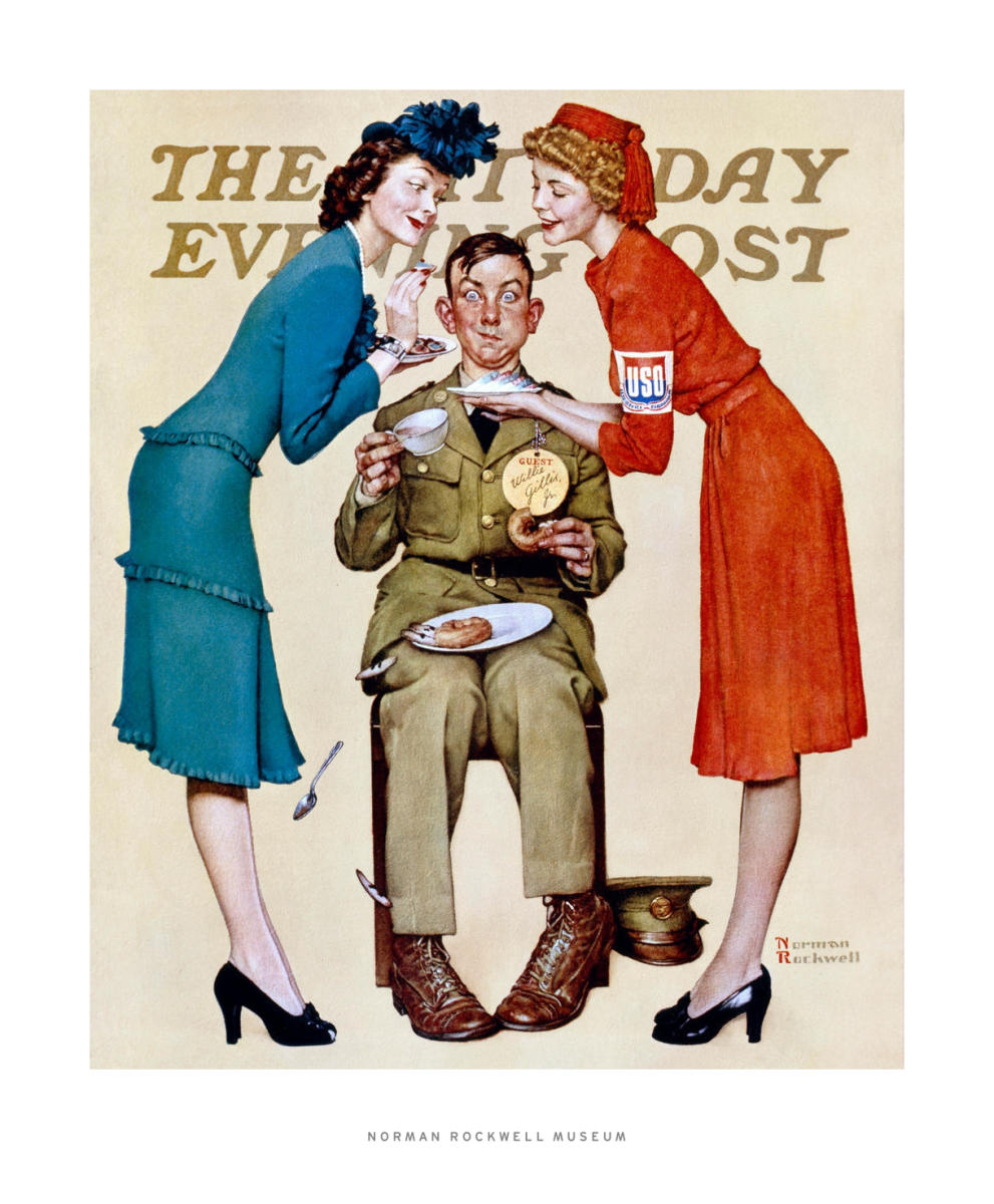 Willie Gillis at the USO, 1942 by Norman Rockwell - Paper Print ...